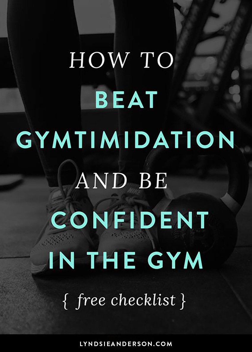 How to beat gymtimidation and be confident in the gym pin