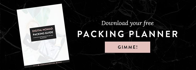 Digital nomad packing list planner