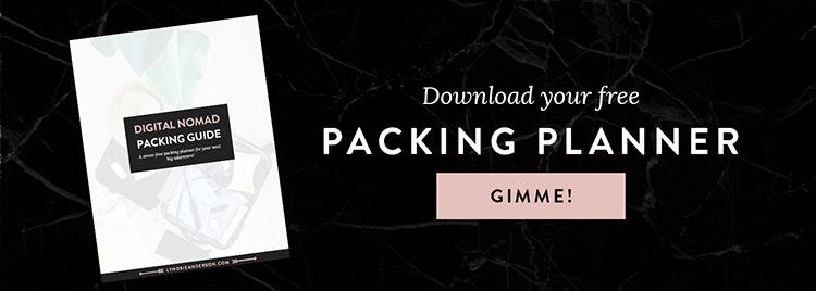 digital nomad packing planner