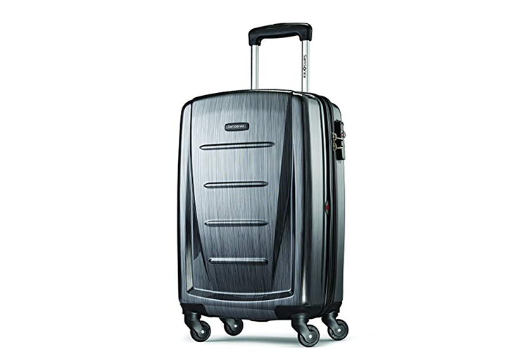 The Samsonite Winfield Hardside Luggage is the best carry on bag for digital nomads