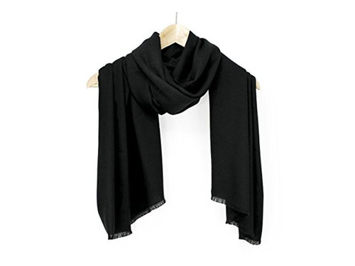black travel scarf